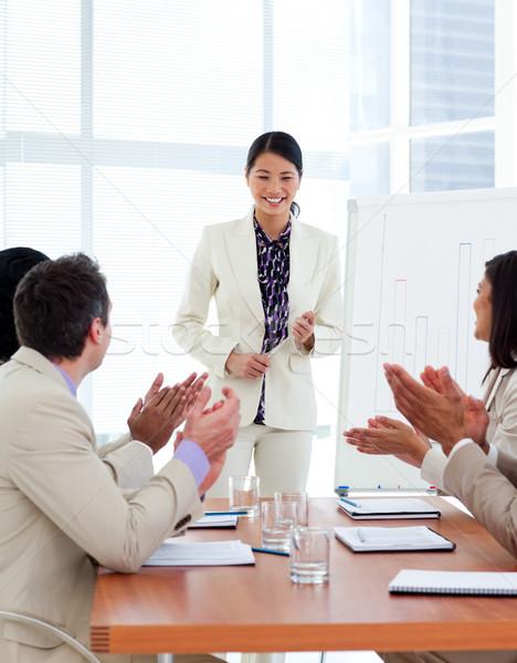успешный азиатских женщину презентация компания служба Сток-фото © wavebreak_media