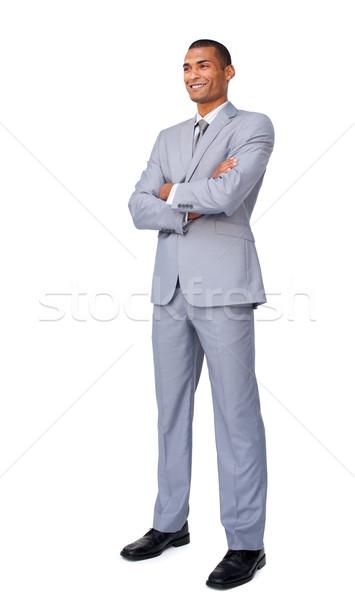харизматический привлекательный бизнесмен сложенный оружия Постоянный Сток-фото © wavebreak_media