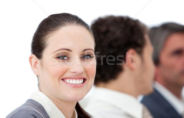 Self-assured businesswoman and her team Stock photo © wavebreak_media