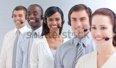 люди презентация женщину улыбка заседание Сток-фото © wavebreak_media