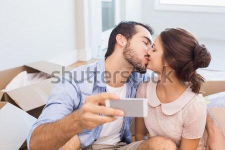 Férj beteg feleség tabletták otthon nő Stock fotó © wavebreak_media