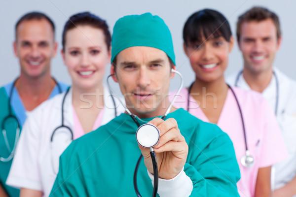 Etkileyici cerrah tıbbi takım beyaz çalışmak Stok fotoğraf © wavebreak_media