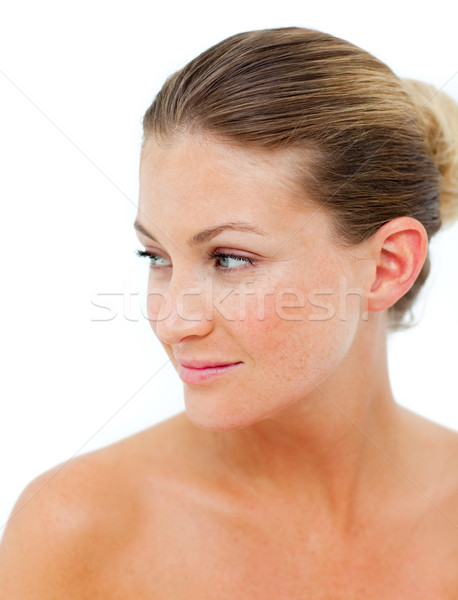Positief vrouw spa-behandeling gezondheid centrum gezicht Stockfoto © wavebreak_media
