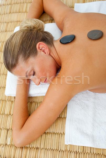 Primo piano donna trattamento termale salute centro mani Foto d'archivio © wavebreak_media