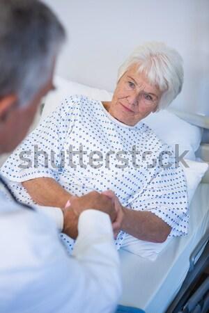 больным старший женщину медицинской медсестры Сток-фото © wavebreak_media