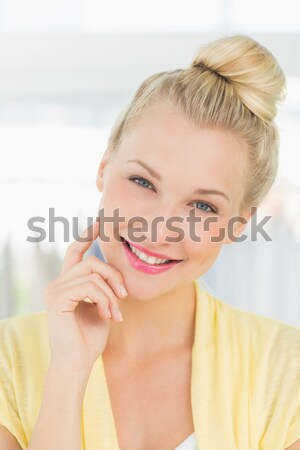 Nevet nő alsónemű beszél telefon lány Stock fotó © wavebreak_media