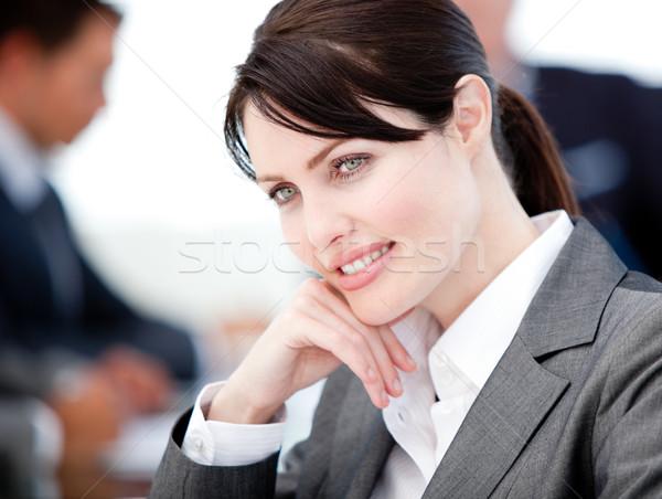 Femme d'affaires réunion équipe affaires heureux Photo stock © wavebreak_media