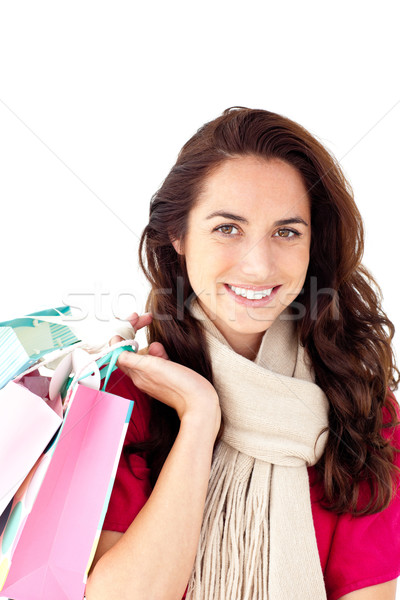 Joyeux femme écharpe Photo stock © wavebreak_media