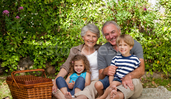 Happy family picnicking in the garden Stock photo © wavebreak_media
