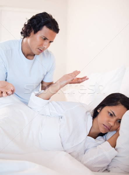 Young couple having a dispute in the bed Stock photo © wavebreak_media
