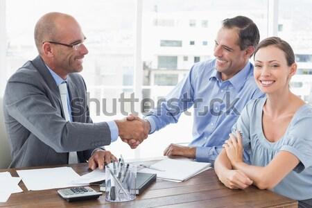 Réussi supérieurs vendeur équipe blanche heureux Photo stock © wavebreak_media