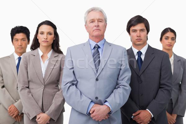 Maturo imprenditore piedi colleghi bianco business Foto d'archivio © wavebreak_media
