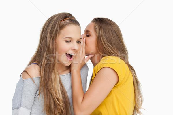 若い女性 友達 白 手 口 ストックフォト © wavebreak_media