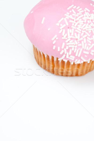 çörek glasaj şekeri beyaz arka plan yeme Stok fotoğraf © wavebreak_media