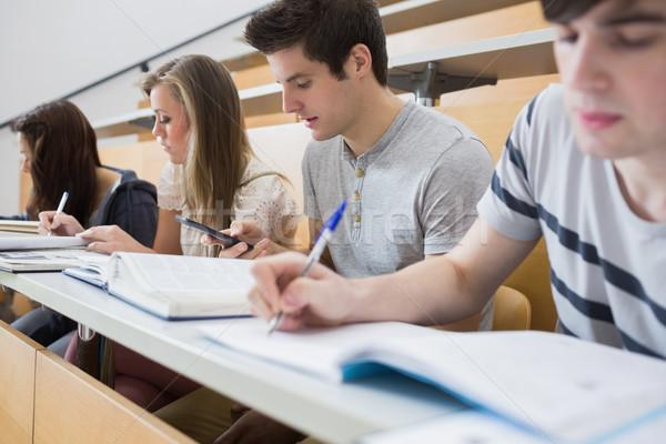 Öğrenciler oturma büro ders salon Stok fotoğraf © wavebreak_media