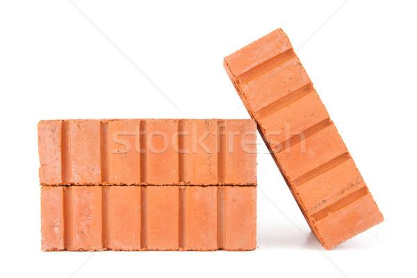 Briques blanche rouge brique concrètes Photo stock © wavebreak_media