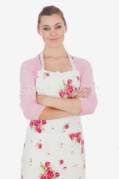 Portrait of woman wearing apron Stock photo © wavebreak_media