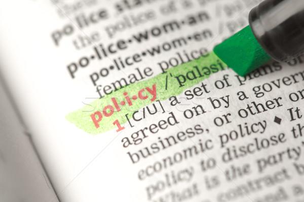 Definizione verde dizionario informazioni studiare Foto d'archivio © wavebreak_media