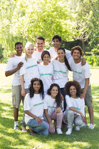 Confident volunteers in park Stock photo © wavebreak_media