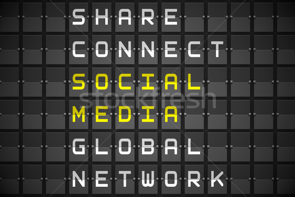 Social Media schwarz mechanische Bord digital erzeugt Stock foto © wavebreak_media