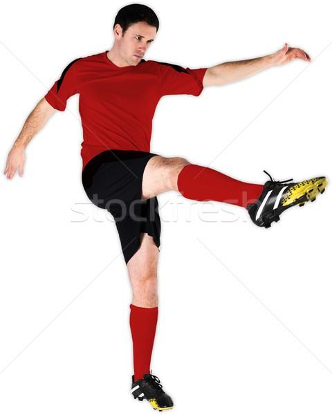 футболист красный белый человека Футбол Сток-фото © wavebreak_media