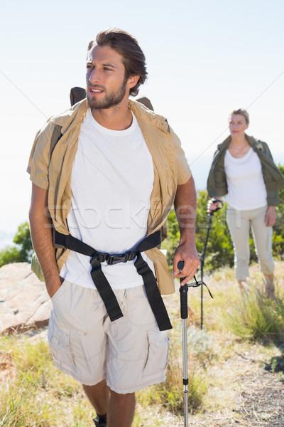 ハイキング カップル 徒歩 山 歩道 ストックフォト © wavebreak_media