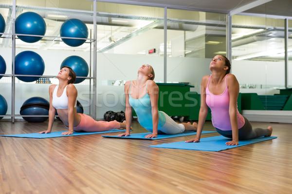 Yoga class in cobra pose in fitness studio Stock photo © wavebreak_media