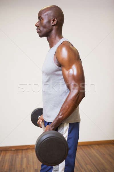 Muscular man lifting barbell in gym Stock photo © wavebreak_media