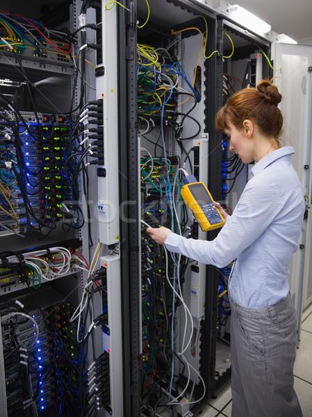 ストックフォト: 技術者 · デジタル · ケーブル · サーバー · データセンター
