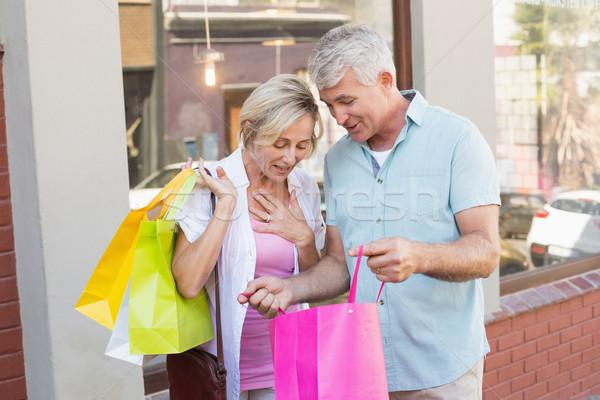 Mutlu olgun çift bakıyor alışveriş Stok fotoğraf © wavebreak_media