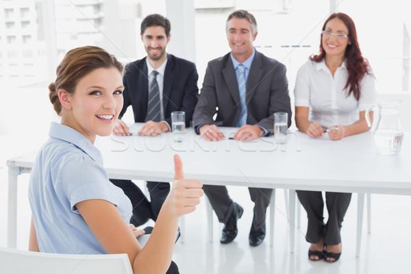 Kobieta interesu pracy wywiad człowiek zespołu kobiet Zdjęcia stock © wavebreak_media
