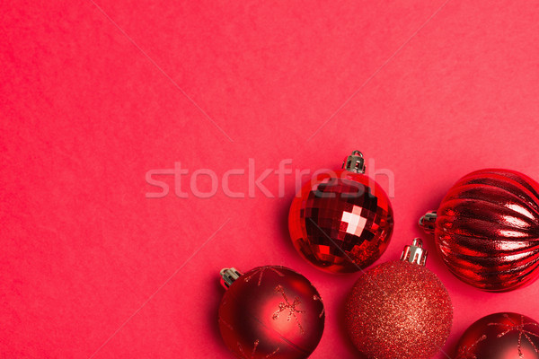 Shiny red group of christmas baubles  Stock photo © wavebreak_media