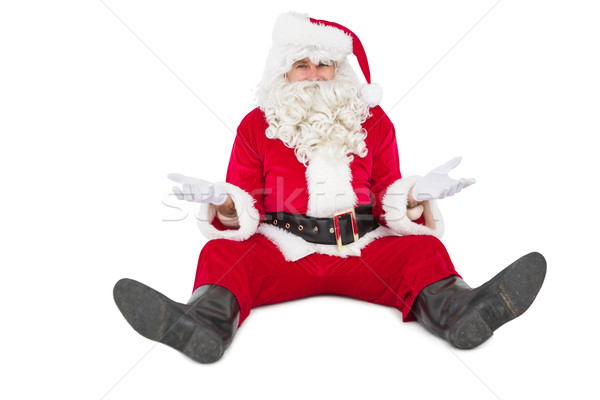 Zweifelhaft Sitzung allein weiß Weihnachten Stock foto © wavebreak_media