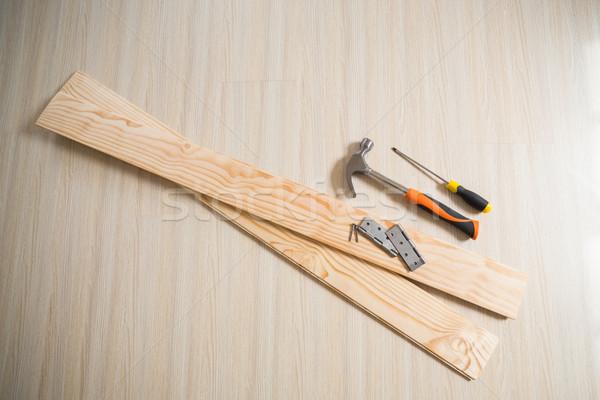 доски инструменты древесины полу молота Сток-фото © wavebreak_media