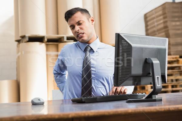 Magazijn manager werken computer groot business Stockfoto © wavebreak_media