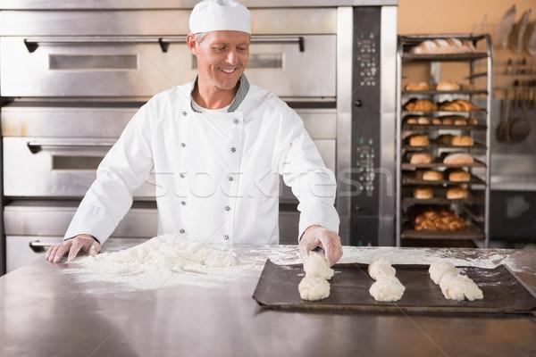 Pék sütés tálca konyha pékség üzlet Stock fotó © wavebreak_media