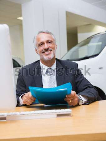 Upset businessman making a phone call Stock photo © wavebreak_media