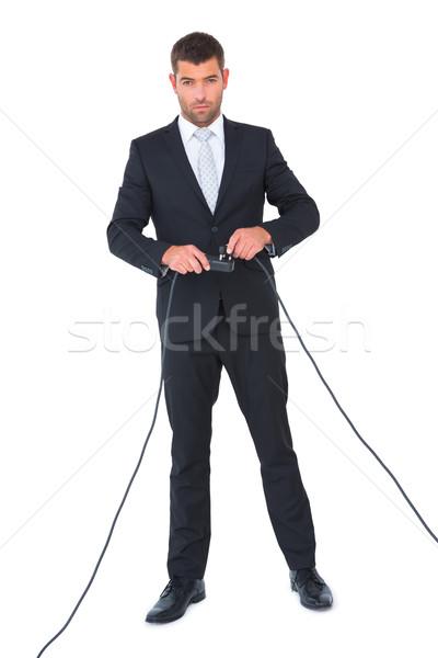 ビジネスマン プラグイン 白 男 スーツ ストックフォト © wavebreak_media