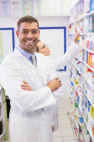 Pharmacist looking at camera  Stock photo © wavebreak_media