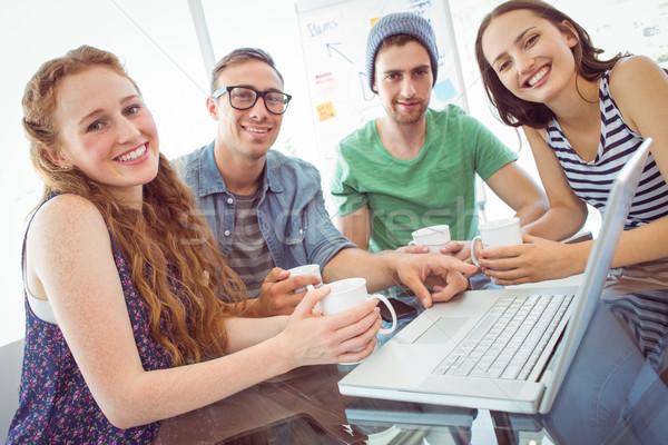 моде студентов рабочих команда колледжей компьютер Сток-фото © wavebreak_media