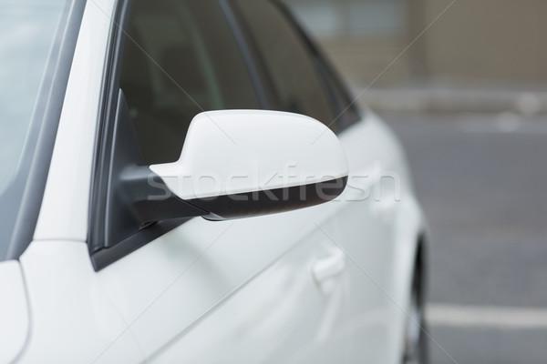 Közelkép szárny tükör fehér autó Stock fotó © wavebreak_media