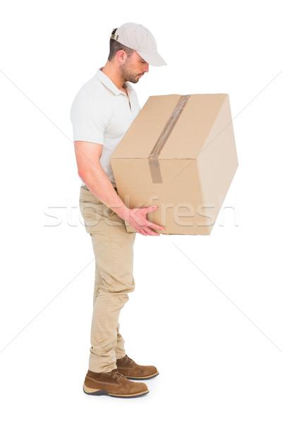 Mensajero hombre paquete blanco Foto stock © wavebreak_media