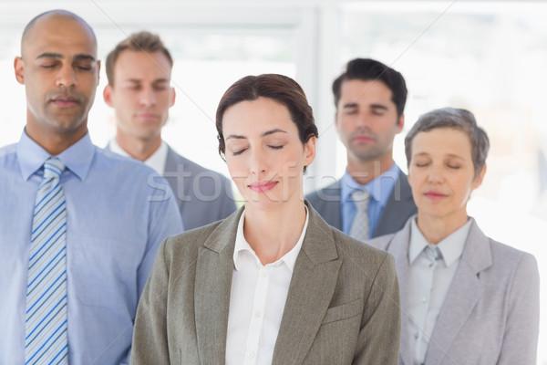Business team ontspannen kantoor vrouw zakenlieden Stockfoto © wavebreak_media