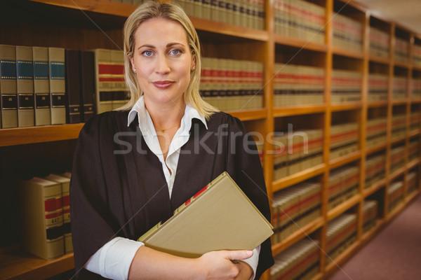 Poważny adwokat pliku stałego biblioteki Zdjęcia stock © wavebreak_media