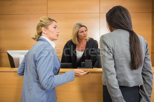Lawyers speaking with the judge Stock photo © wavebreak_media