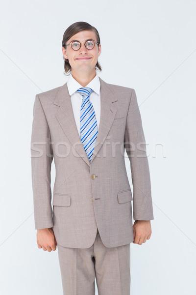 ビジネスマン 見える カメラ 白 ビジネス 幸せ ストックフォト © wavebreak_media