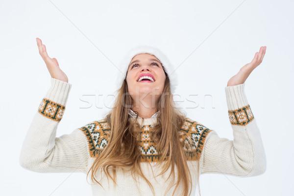 笑みを浮かべて ヒップスター 見える 頭 白 ストックフォト © wavebreak_media