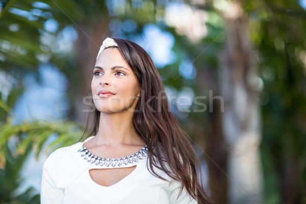 Thoughtful beautiful woman looking away  Stock photo © wavebreak_media