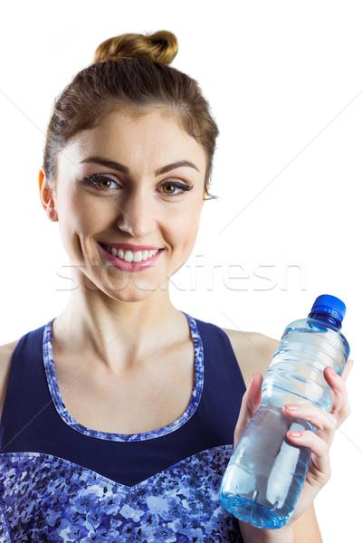 Geschikt brunette veldfles witte gezondheid Stockfoto © wavebreak_media