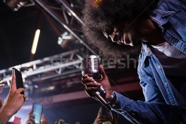 Cantante realizar etapa discoteca mujer música Foto stock © wavebreak_media